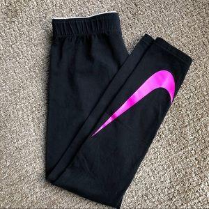 EUC - Girls' Nike leggings - size M